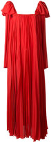 Elie Saab tied strap pleated dress - women - Polyester - 38