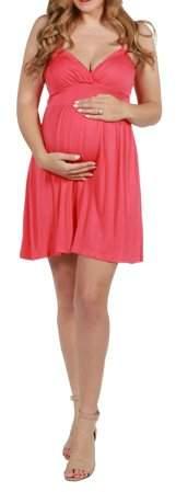 24/7 Comfort Apparel 24Seven Comfort Apparel Skylar Spaghetti Strap Short Summer Dress