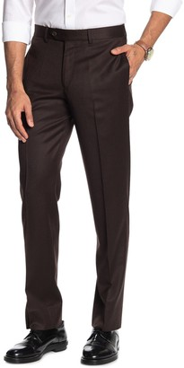 """Brooks Brothers Dark Brown Solid Regent Fit Suit Separates Trousers - 30-34"""" Inseam"""