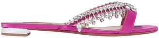 Aquazzura Gem Palace Crystal-embellished Satin Sandals