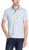 Perry Ellis Men's Polo Shirt with Oxford Collar