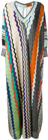 Missoni zigzag long dress - women - Silk/Polyester/Spandex/Elastane/Viscose - 44