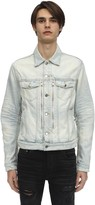 Amiri Mx2 Cotton Denim Jacket W/zipper