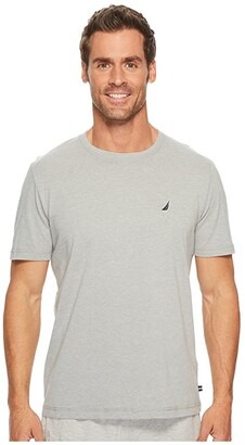 Nautica Knit Sleep T-Shirt (Grey Heather) Men's Pajama