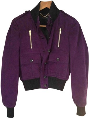 Gucci Purple Suede Coat for Women