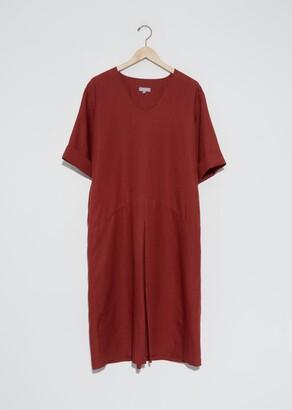 Margaret Howell Linen Panelled T-Shirt Dress Paprika