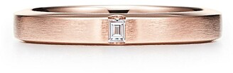 Tiffany & Co. Essential Band satin finish ring in 18ct rose gold with a diamond