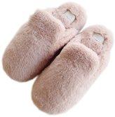 SANNIX Womens Indoor Warm Fleece Slippers Winter Soft Cozy Booties Non-slip Fuzzy Plush Home Bedroom Floor Slip-on Shoes(,7.5-8.5)