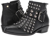 Manila Grace Studded Fringe Ankle Boots Women's Pull-on Boots