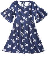 My Michelle Daisy-Print Back-Strap Dress, Big Girls (7-16)