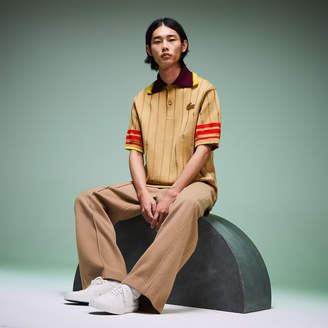 Lacoste Men's Fashion Show Knitted Oversized Polo