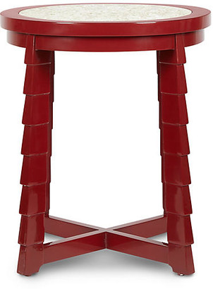 Bunny Williams Home Mateo Side Table - Red