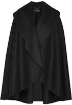 Burberry Double-faced Wool-felt Cape - Black
