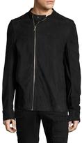 Rick Owens Leather Zip Cuff Biker Jacket