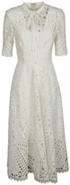Temperley London Berry Lace Neck Tie Dress