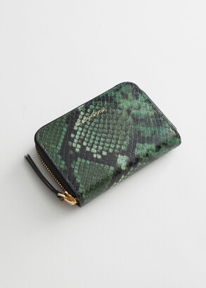 And other stories Snake Embossed Leather Wallet