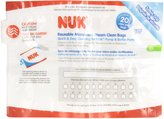 NUK Microwave Reusable Steam Clean Bags, 6 Count