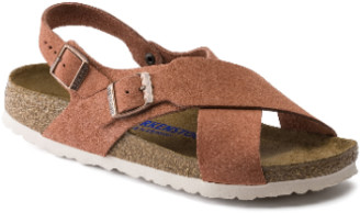 Birkenstock Earth Red Soft Footbed VL Tulum Narrow Sandal - 36