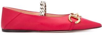 Gucci Deva Horsebit ballerina shoes