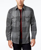 Club Room Men's Big and Tall Plaid Shirt-Jacket, Only at Macy's