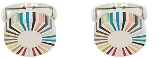 Paul Smith Stripe Edge Circular cufflinks