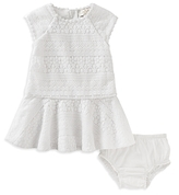 Kate Spade Girls' Drop Waist Lace Dress & Bloomers Set - Baby