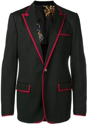 Dolce & Gabbana contrast trim blazer