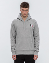 Ami Small Blue White Red Embroidery Hoodie