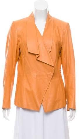 148 Leather Asymmetrical Jacket