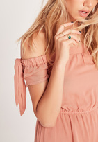 Missguided Stone Detail Four Ring Pack Gold