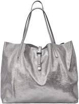 GiGi New York Luna Metallic Mixed Leather Reversible Tote Bag