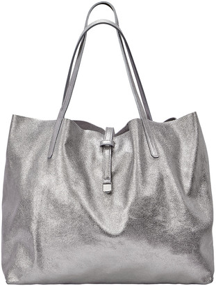 GiGi New York Luna Metallic Mixed Leather Reversible Tote Bag