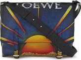 Loewe Sun leather military messenger bag