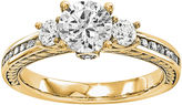 MODERN BRIDE 1 1/4 CT. T.W. Diamond 14K Yellow Gold 3-Stone Engagement Ring