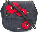 Kate Spade floral saddle crossbody bag