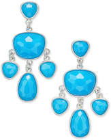 Charter Club Glossy Stone Chandelier Earrings, Only at Macy's