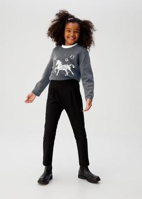 MANGO Sequins unicorn sweater