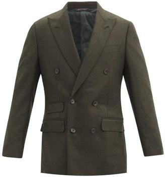 Thom Sweeney - Peak-lapel Wool-blend Double-breasted Jacket - Green