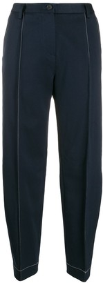 Eckhaus Latta Contrast Stitching Tapered-Leg Trousers