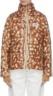 Burberry Bambi print logo patch windbreaker