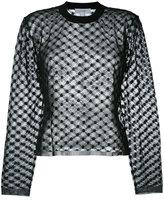 Carven lace detail top - women - Cotton/Nylon/Polyester - XS