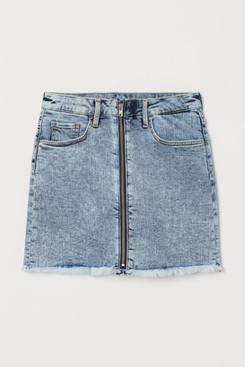 H&M Zip-up denim skirt