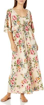 Star Vixen Women's Petite Flutter Sleeve Empire Maxi Dress
