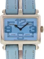 Roger Dubuis Horloger Genevois 18K White Gold & Leather Quartz 30mm Womens Watch