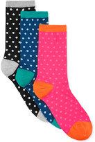 Hot Sox Women's Polka Dot Crew Socks