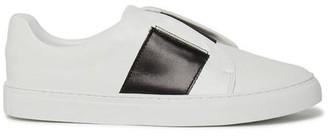 Philip Hog - Elastic Slip On Trainers White Black - 36