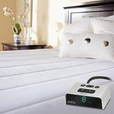 Sunbeam Vertical Quilted Heated Mattress Pad with ComfortTech Controller, Twin