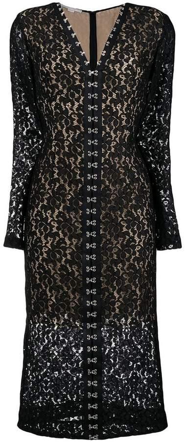 Stella McCartney lace fitted midi dress
