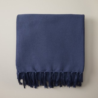 Indigo Lightweight Throw Blanket Soft Denim