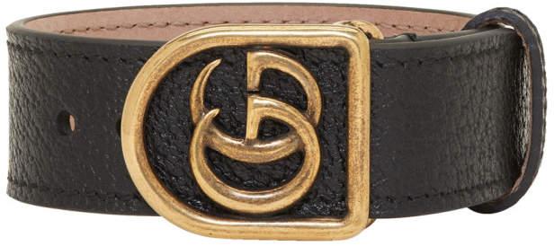 Gucci Black GG Marmont Bracelet